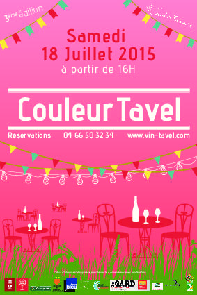 Couleur Tavel event will take place on the 18th of July 2015